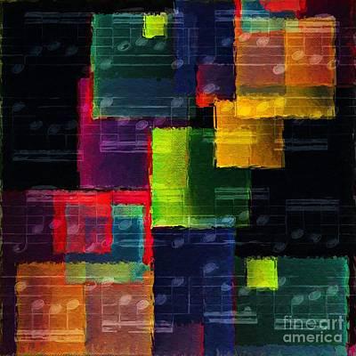 Digital Art - Geometric Gigue 5 by Lon Chaffin