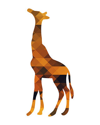 Geometric Giraffe Digital Art - Geometric Giraffe by Andrea Miller