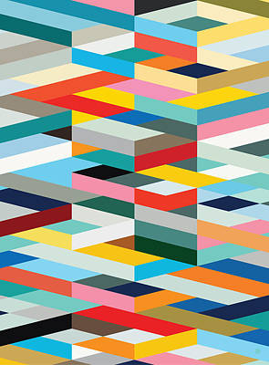 Digital Art - Geometric Graphic One by Gary Grayson