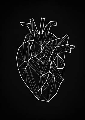 Digital Art - Geometric Heart by Taylan Apukovska