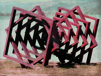 Photograph - Geometric Installation 2 by Dorothy Berry-Lound