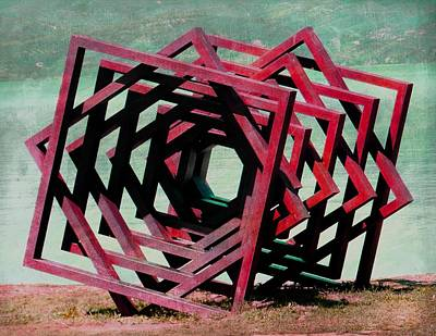 Photograph - Geometric Installation by Dorothy Berry-Lound