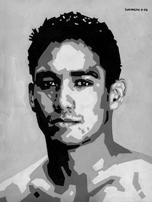 Portraits Royalty-Free and Rights-Managed Images - Geometric Kainoa by Douglas Simonson