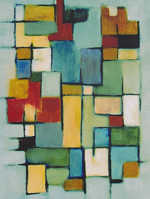 Painting - Geometric Line Series Re Master by Patricia Cleasby