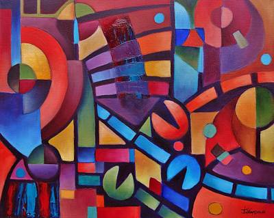 Painting - Geometric Music by Jason Williamson