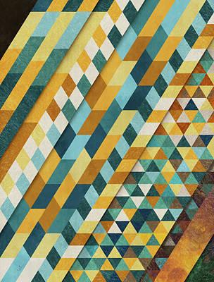 Calavera Digital Art - Geometric Palace by Francisco Valle