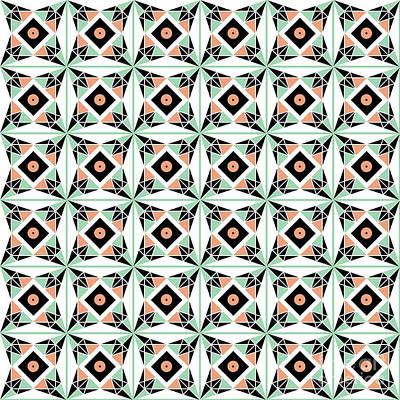 Algorithmic Digital Art - Geometric Pattern by Gaspar Avila