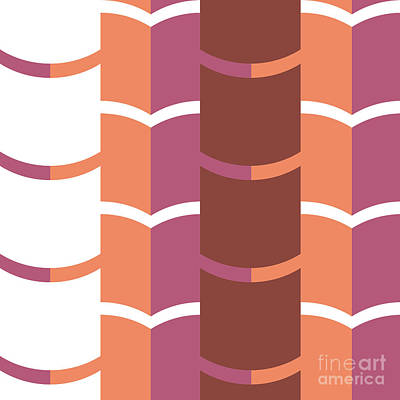 Repeat Digital Art - Geometric Pattern by HD Connelly