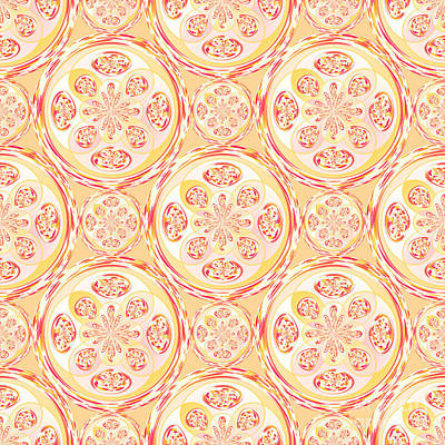Algorithmic Digital Art - Geometric Pizza Pattern by Gaspar Avila