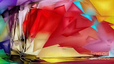 Digital Art - Geometric Rainbow by Rafael Salazar