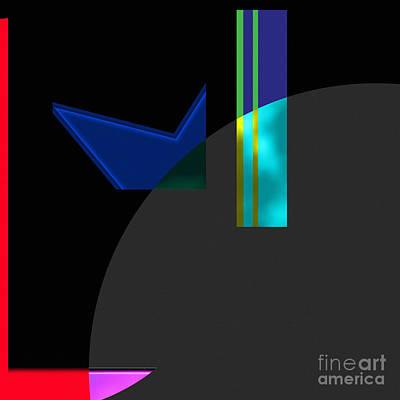 Geometric - Simple Simon Art Print by Liane Wright