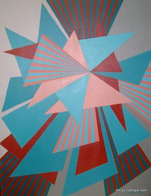 Painting - Geometric Study by Calliope Thomas