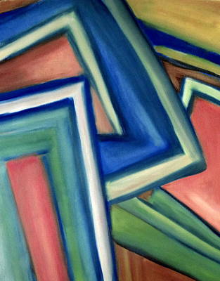 Comic Character Paintings - Geometric Tension series IV by Patricia Cleasby