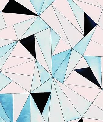 Moroccan Digital Art - Geometric Washout by Uma Gokhale