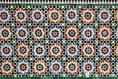Madrasa Photograph - Geometrical Ceramics by Aivar Mikko