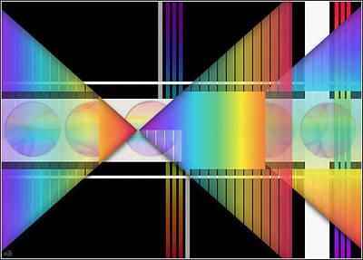 Triangles Digital Art - Geometrically Speaking by Sue Gardiner