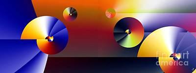 Digital Art - Geometrics by Ron Bissett