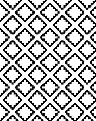 Geometricsquaresdiamondpattern Art Print by Rachel Follett