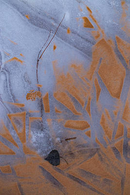 Photograph - Geometries Of Ice And Sand by Deborah Hughes