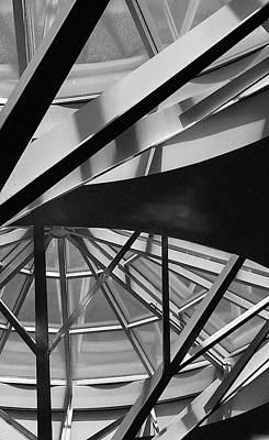 Geometry In Black And White Art Print by Winnie Chrzanowski