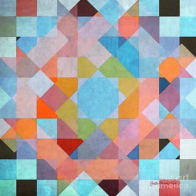 Art Print featuring the digital art Geometry by Jutta Maria Pusl
