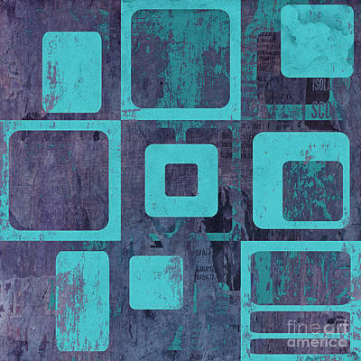 Blue Abstracts Digital Art - Geomix 02 - Sp06c6b by Variance Collections