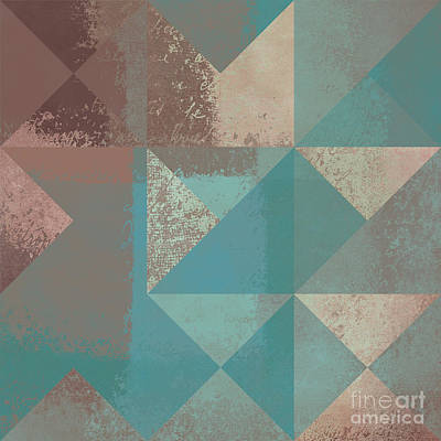 Turquoise Abstract Art Digital Art - Geomix 03 - S123bc04t2a by Variance Collections