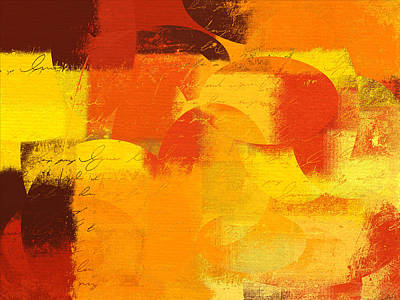 Yellow Abstracts Digital Art - Geomix 05 - 01at01 by Variance Collections