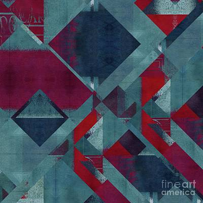Digital Art - Geomix - 1322-01 by Variance Collections