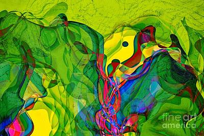 Green Geometry Art Digital Art - Geomox - 23 by Variance Collections