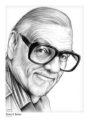 Drawing - George A. Romero by Greg Joens
