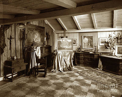 Photograph - George And Catherine Seideneck Studio In Their Home In Carmel Va by California Views Mr Pat Hathaway Archives