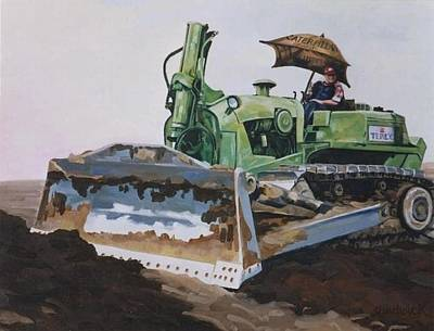 Painting - George And His Dozer by Phil Chadwick
