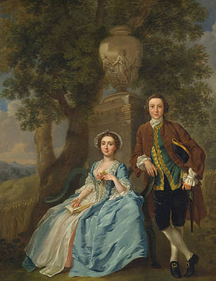 Painting - George And Margaret Rogers by Francis Hayman