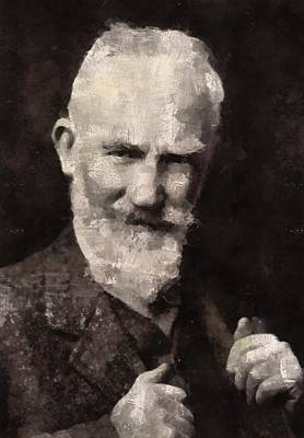 Dracula Painting - George Bernard Shaw Author by Mary Bassett