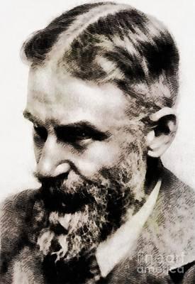 1984 Painting - George Bernard Shaw, Literary Legend by John Springfield
