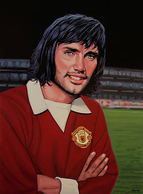 Celtics Painting - George Best Painting by Paul Meijering