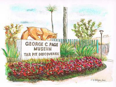 George C. Page Museum, Los Angeles - California Art Print