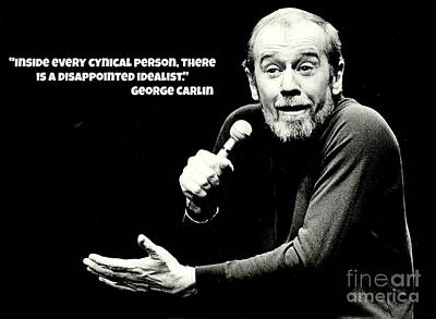 Johnny Carson Wall Art - Painting - George Carlin Art  by Pd