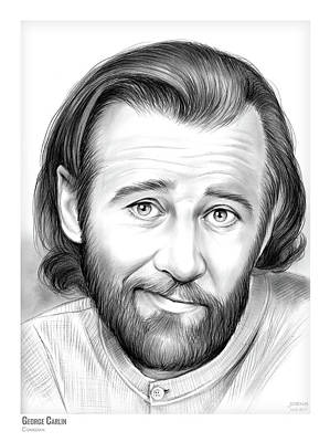 Drawings Rights Managed Images - George Carlin Royalty-Free Image by Greg Joens