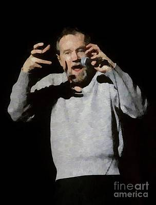 Photograph - George Carlin Oil Painting Enlargements by Concert Photos
