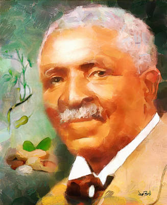 Painting - George Carver by Wayne Pascall