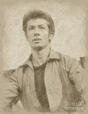 Fantasy Drawings - George Chakiris, Actor by Frank Falcon