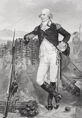 War Hero Drawing - George Clinton 1739-1812. Revolutionary by Vintage Design Pics