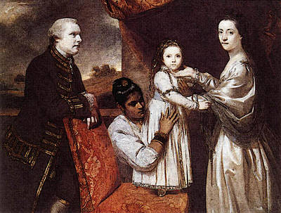 Clive Digital Art - George Clive And His Family  by Joshua Reynolds