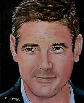George Clooney Celebrity Painting Original by Dyanne Parker