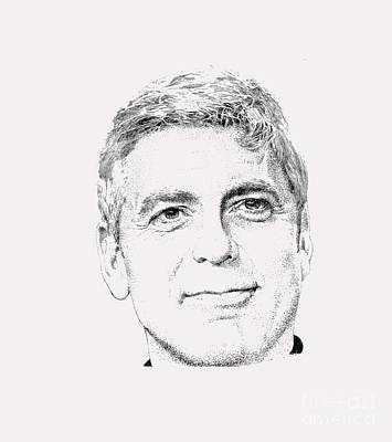 George Clooney  Art Print by Herb Strobino