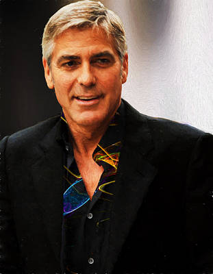 Photograph - George Clooney Painting by Ericamaxine Price