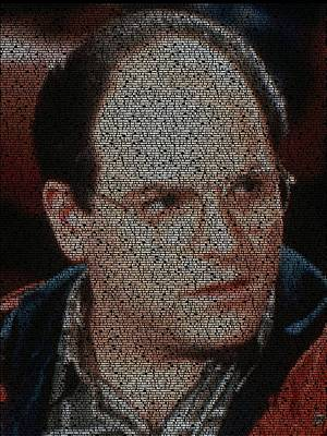 Painting - George Costanza Quotes Mosaic by Paul Van Scott