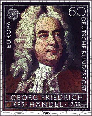 Painting - George Frederick Handel by Lanjee Chee